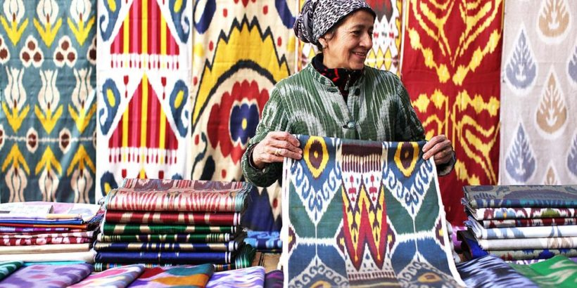 Шелковые ковры из Узбекистана