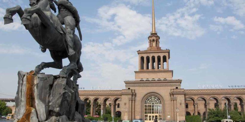 Железнодорожный вокзал в Ереване