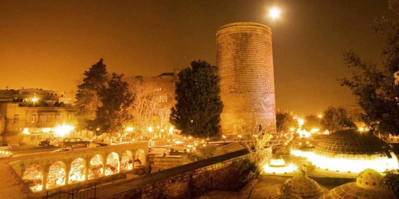 Девичья башня в Баку, Азербайджан