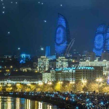 азербайджан, баку, бакинский бульвар, башни огня, флэйм тауерс, туры в баку