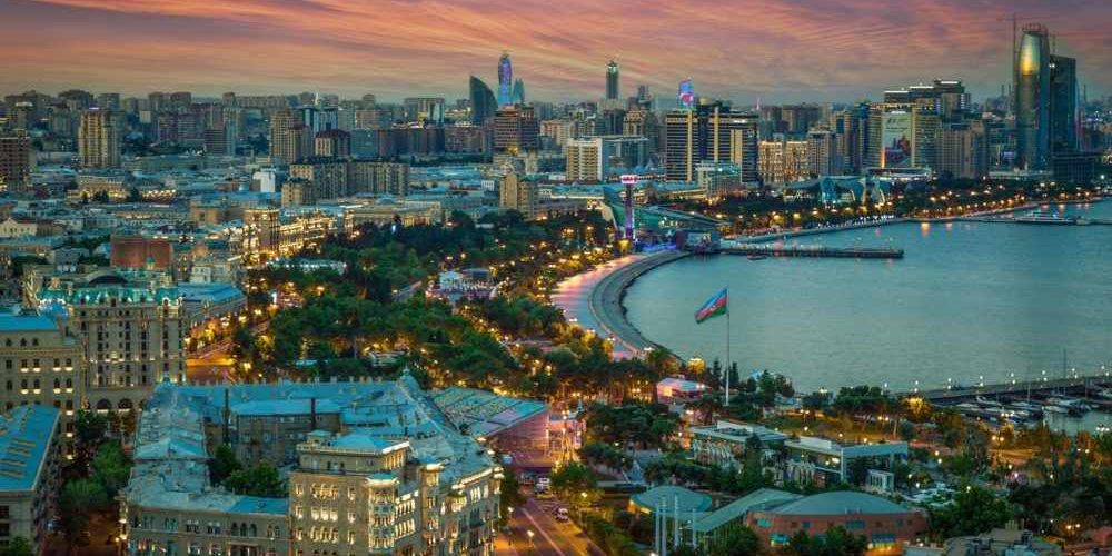 азербайджан, баку, отдых на каспийском море, страна огней, столица