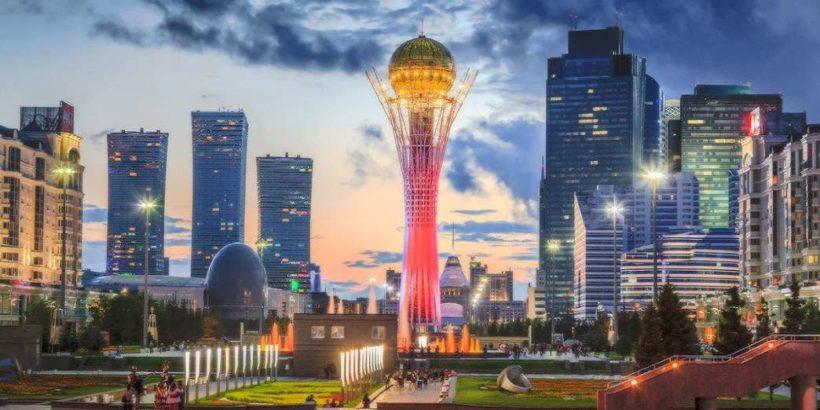 Город Нур-Султан в Казахстане